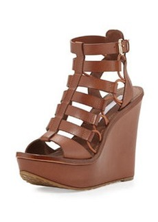 Diane von Furstenberg Lexington Strappy Wedge Sandal, Sandalwood