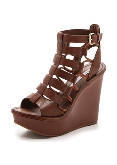 Diane von Furstenberg Lexington Wedge Sandals