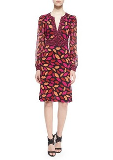 Diane von Furstenberg Leyah Midnight Kiss Silk Dress