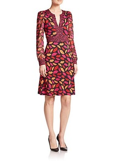 Diane von Furstenberg Leyah Printed Silk Dress