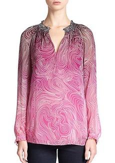 Diane von Furstenberg Leysa Printed Silk Blouse