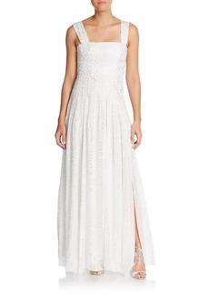 Diane von Furstenberg Lillie Pleated Chiffon Gown