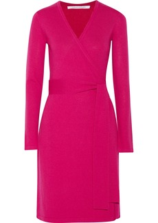 Diane von Furstenberg Linda wool-blend wrap dress
