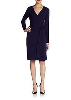 Diane von Furstenberg Linda Wool/Cashmere Wrap Dress