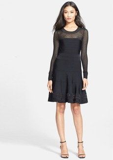 Diane von Furstenberg Long-Sleeve Body-Con Dress
