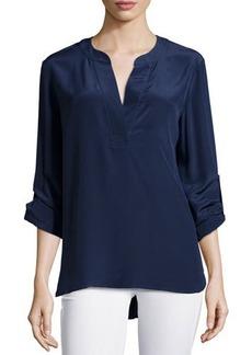 Diane von Furstenberg Long-Sleeve Esti Silk Blouse
