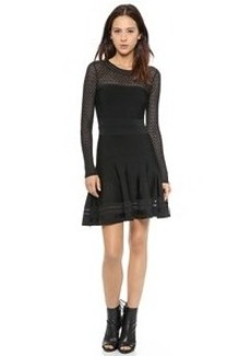 Diane von Furstenberg Long Sleeve Flare Dress