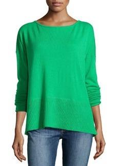Diane von Furstenberg Long-Sleeve Knit Sweater, Hot Green