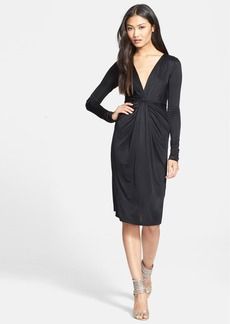Diane von Furstenberg Long Sleeve V-Neck Dress