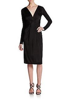 Diane von Furstenberg Long-Sleeve V-Neck Dress
