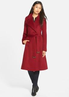 Diane von Furstenberg Long Wool Blend Wrap Coat