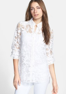 Diane von Furstenberg 'Lorelei Two' Sheer Lace Shirt