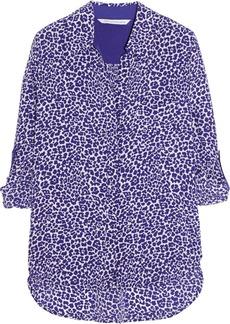Diane von Furstenberg Lorelei leopard-print silk crepe de chine shirt