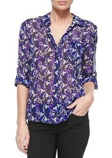 Diane von Furstenberg Lorelei Printed Silk Blouse