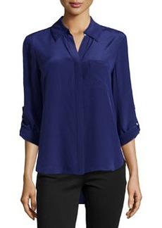 Diane von Furstenberg Lorelei Silk Blouse, Purple