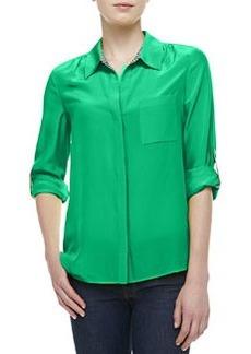 Diane von Furstenberg Lorelei Two Chiffon Top, Hot Green