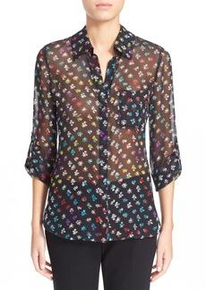 Diane von Furstenberg 'Lorelei Two' Floral Print Silk Blouse (Nordstrom Exclusive)