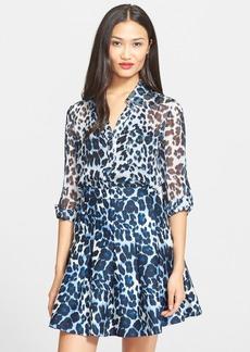 Diane von Furstenberg 'Lorelei Two' Leopard Print Shirt