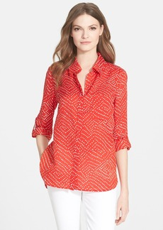 Diane von Furstenberg 'Lorelei Two' Print Cotton & Silk Blouse