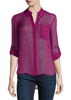 Diane von Furstenberg Lorelei Two Print Silk Blouse