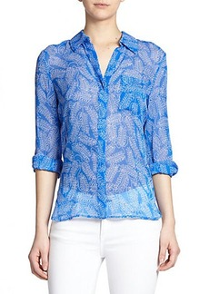 Diane von Furstenberg Lorelei Two Printed Silk Blouse
