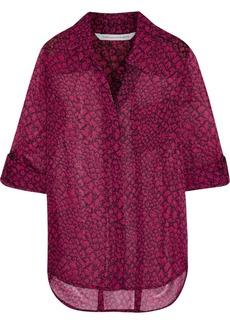 Diane von Furstenberg Lorelei Two printed silk-chiffon shirt