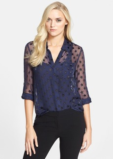 Diane von Furstenberg 'Lorelei Two' Silk Blend Chiffon Blouse