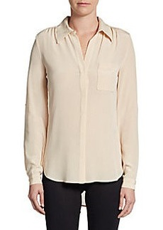 Diane von Furstenberg Lorelei Two Silk-Crepe Blouse