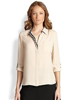 Diane von Furstenberg Lorelei Two Trimmed Silk Shirt