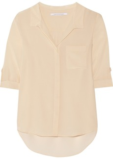 Diane von Furstenberg Lorelei washed silk blouse