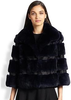 Diane von Furstenberg Loretta Rabbit Fur & Leather Jacket