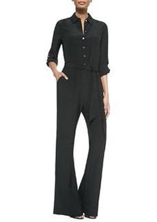 Diane von Furstenberg Lori Wide-Leg Silk Jumpsuit