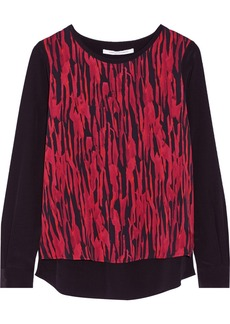 Diane von Furstenberg Louisa printed stretch-silk top