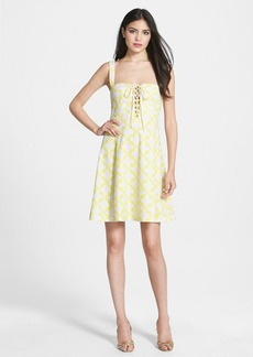 Diane von Furstenberg 'Luxe' Lace-Up Dress