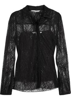 Diane von Furstenberg Lysia floral-lace shirt