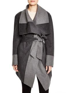 DIANE von FURSTENBERG Mackenzie Color Block Wrap Coat