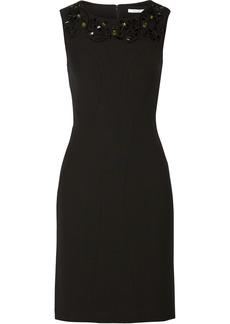Diane von Furstenberg Mackenzie embellished ponte mini dress
