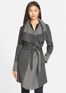 Diane von Furstenberg 'Mackenzie' Two-Tone Cozy Coat (Nordstrom Exclusive)