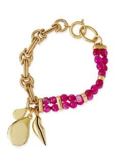 Diane von Furstenberg Maddie Beaded Charm Bracelet
