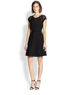Diane von Furstenberg Maddie Lace-Trimmed Dress