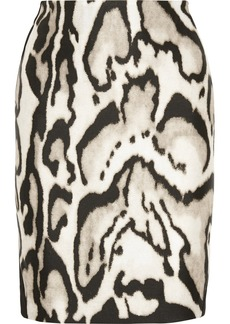 Diane von Furstenberg Mae Mikado printed wool and silk-blend skirt