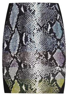 Diane von Furstenberg Mae printed satin-paneled jersey skirt