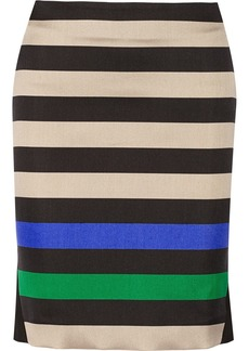 Diane von Furstenberg Mae striped wool and silk-blend pencil skirt