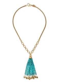 Diane von Furstenberg Marcelle Long Beaded-Tassel Necklace