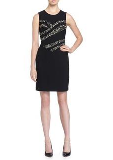 Diane von Furstenberg Marcia Stretch-Jersey Dress w/Leopard-Print Detail