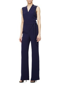 Diane von Furstenberg Margot Bead-Embellished Jumpsuit