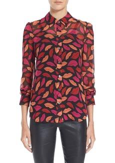 Diane von Furstenberg 'Mariah' Print Silk Blouse