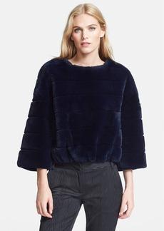 Diane von Furstenberg 'Marina' Genuine Rabbit Fur Pullover
