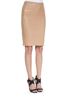 Diane von Furstenberg Marta Paneled Leather Pencil Skirt