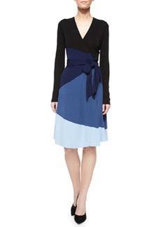 Diane von Furstenberg Mary Bell Colorblock Wrap Dress
